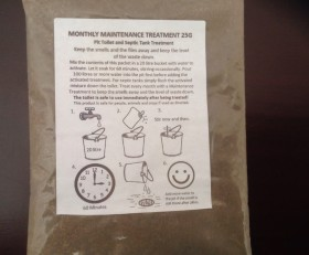 Organic Pit Toilet Cleaner Monthly Maintenance Treatment